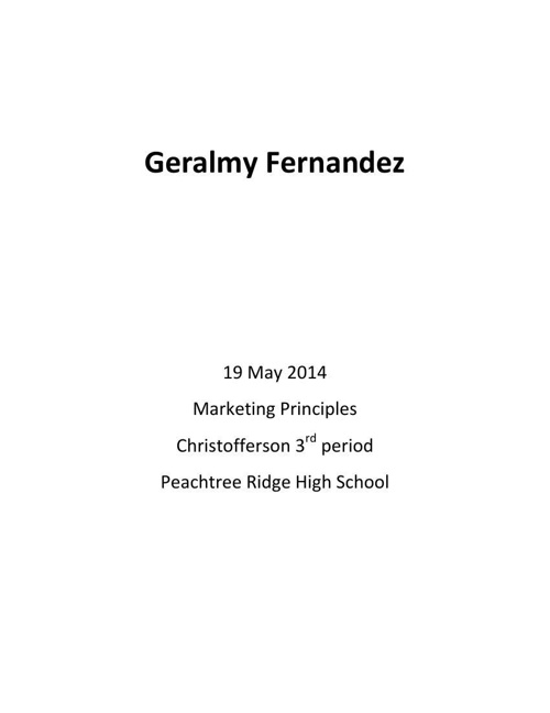 Fernandez Career Portfolio