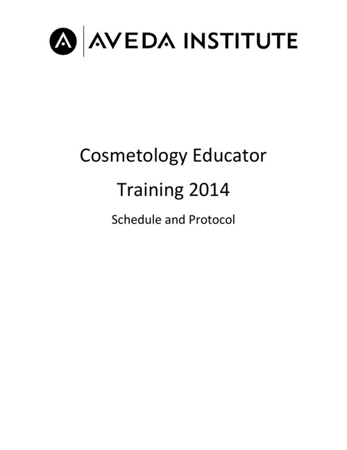 2014 Quarterly Cosmetology Educator Training Program