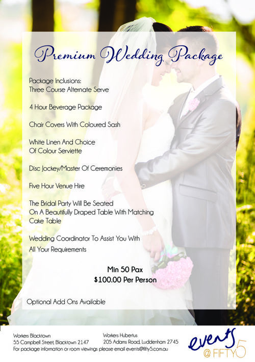 BWC Premium Wedding Package