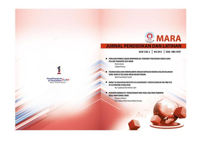 Jurnal Pendidikan MARA 2013