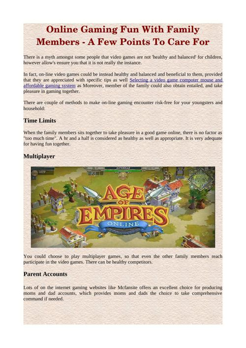 Online Gaming Fun With Family Members - A Few Points To Care For