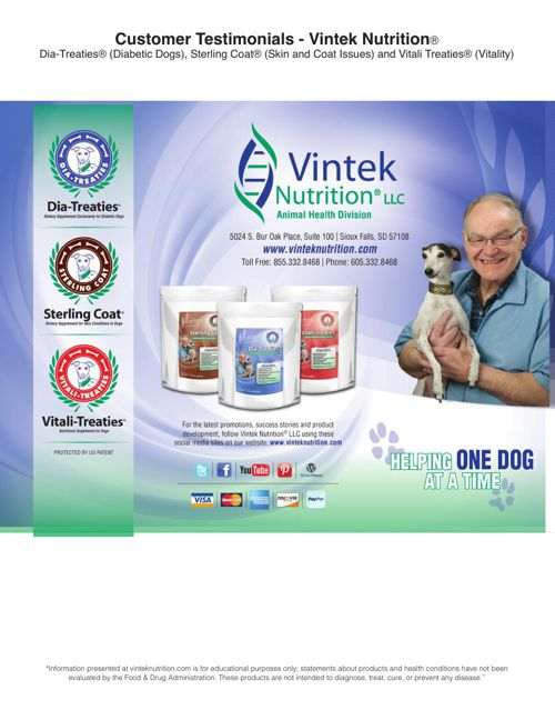 Testimonials for Vintek Nutrition's Website updated: 2015-6-23
