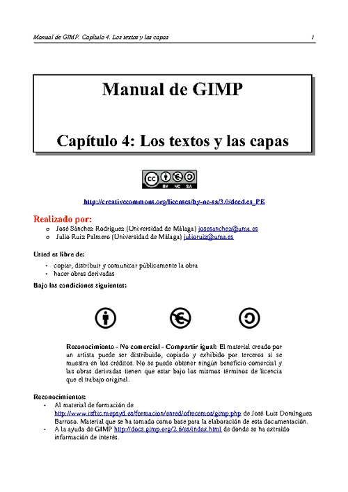 Capítulo 4: Los textos y las capas