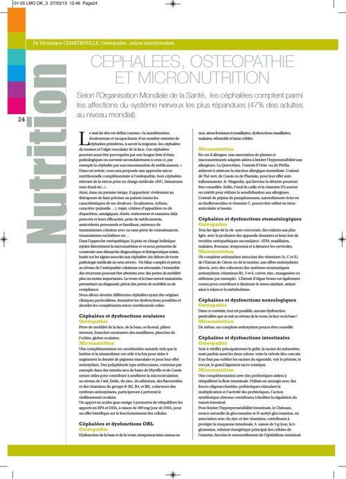 Céphalées et Nutrition