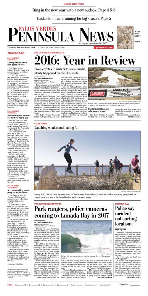 Peninsula News   December 29, 2016