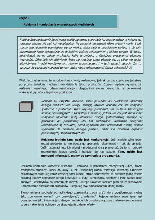 Publikacja Włącz Krytyczne Myślenie - Reklama i Kampania społecz