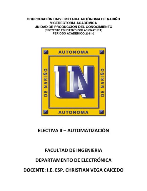 UPC Automatización - AUNAR 2011 - 2