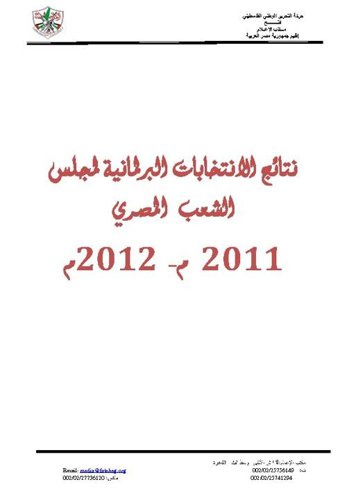 نتائج انتخابات البرلمان المصري (مجلس الشعب) 2012