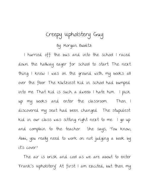 Creepy upholestery guy
