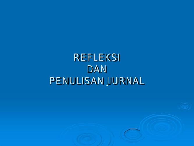 REFLEKSI-a