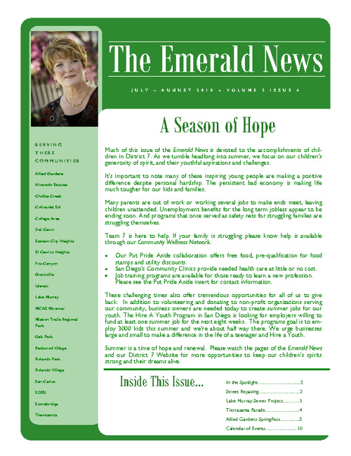 The Emerald News: Volume 2, Issue 4 (July/August 2010)