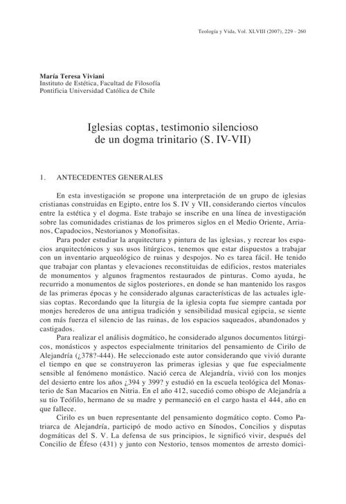 DOGMA EN ARQUITECTURA (COPTA)