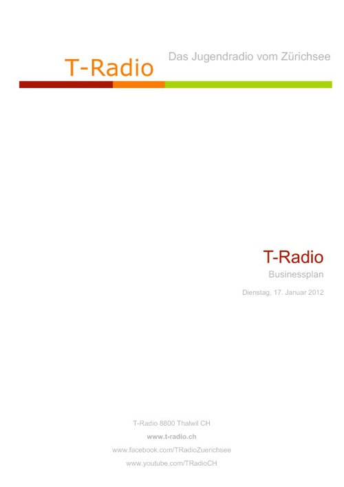 Copy of T-Radio Businessplan