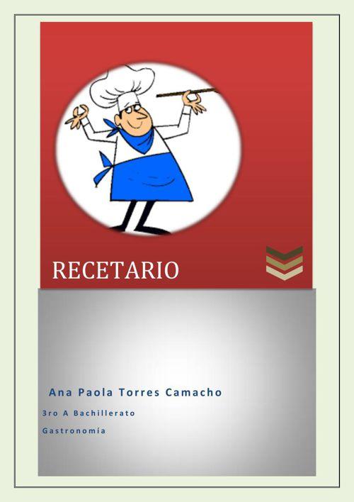 recetario 2da unidad   Ana Paola