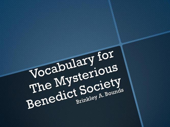 Brinkley - Vocabulary Powerpoint