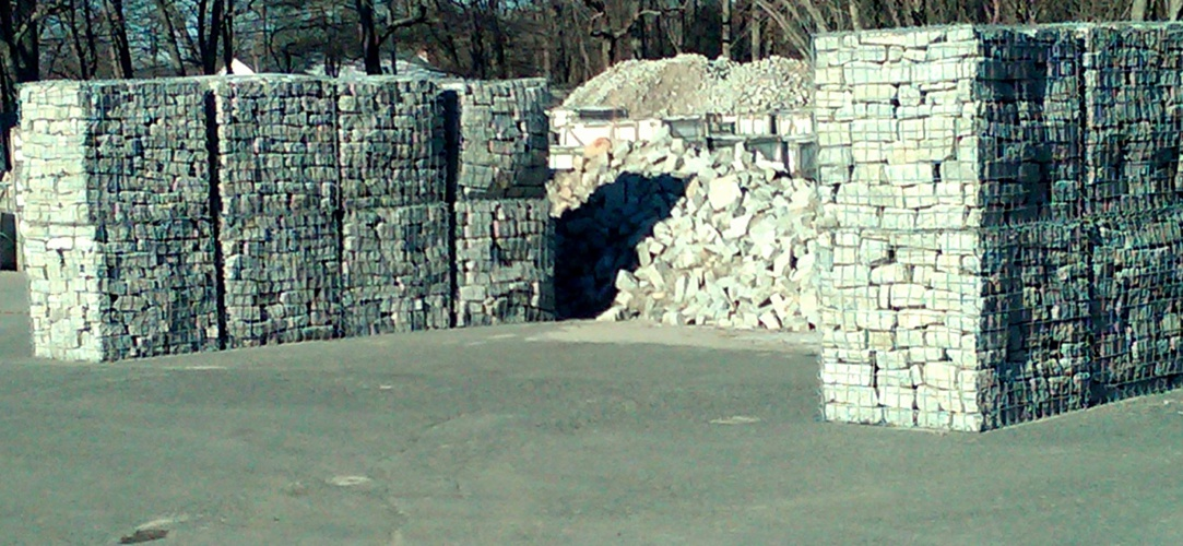 Old World Cobble® GABION vs CONCRETE BARRIERS