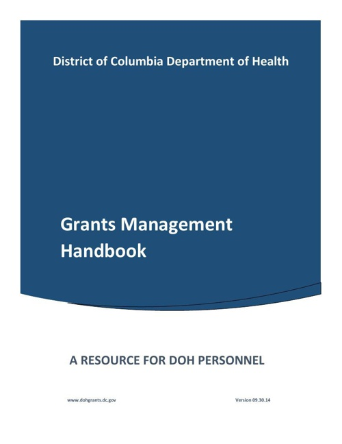 DOH Grants Handbook