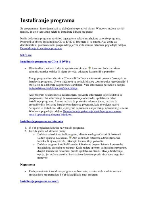 PDF knjiga tutorijala