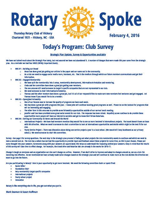 Rotary Spoke 05-26-2016