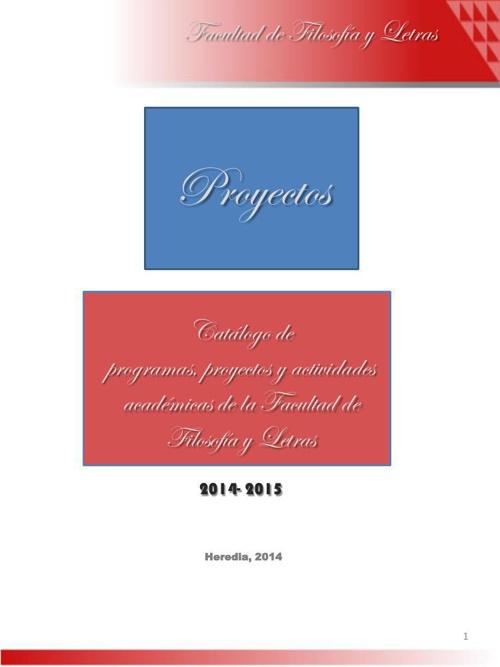Programas, proyectos y actividades académcias 2014-2015