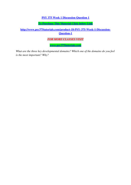 PSY 375 TUTORIALS Real Success/psy375tutorials.com