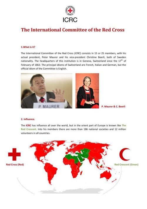 The International Committee of the Red Cross1