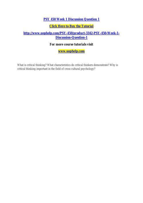 PSY 450 ACADEMIC COACH / UOPHELP