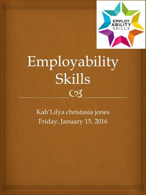 Employability Skills Presentation Assignment