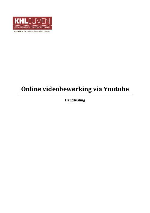 Videobewerking