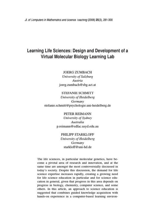 Virtual Science Article Collection