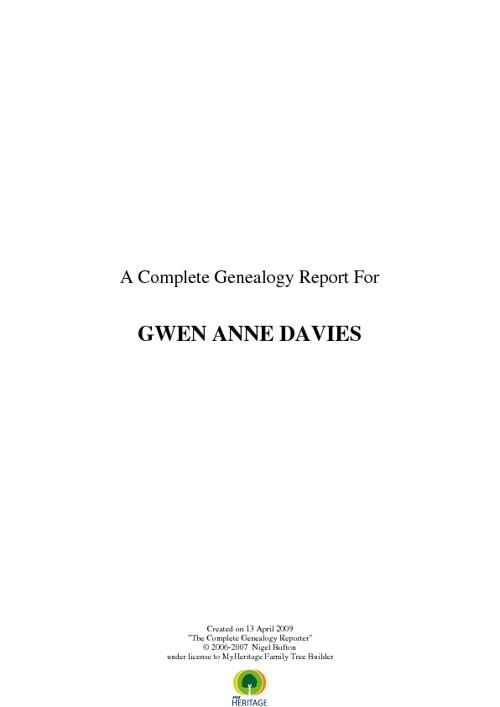 Gwen Anne Davies