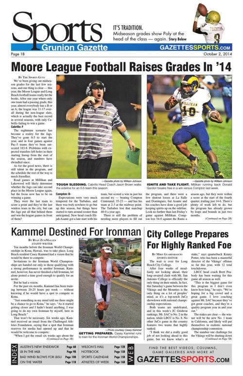 Gazette Sports | October 2, 2014