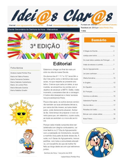 3º Edição - Jornal Idei@as Clar@s