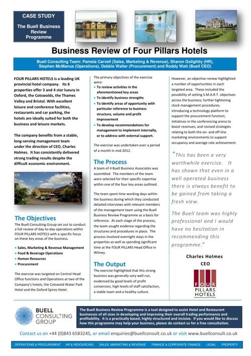 Four Pillars Case Study