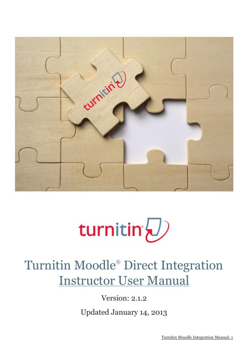 Turnitin Training Documentation