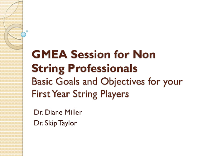 GMEA Session