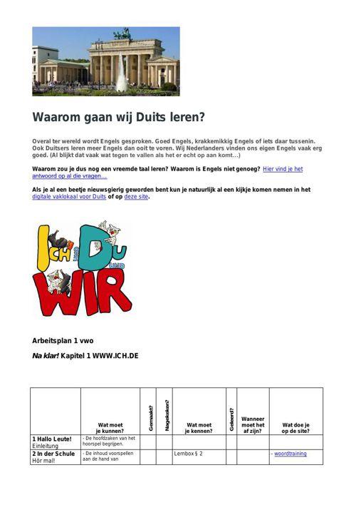 Waarom gaan wij Duits leren