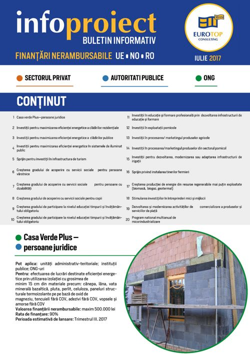 EUROTOP CONSULTING NEWSLETTER IULIE 2017