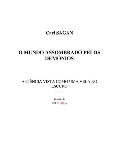 Carl Sagan - O Mundo Assombrado Pelos Demônios