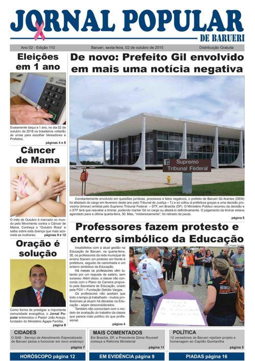 110ª edição do Jornal Popular de Barueri