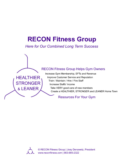 RECON Fitness Group Helps Gym Owners