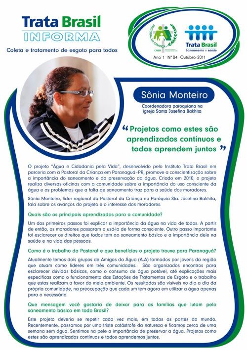 4ª Edição do Boletim Trata Brasil / Pastoral da Criança