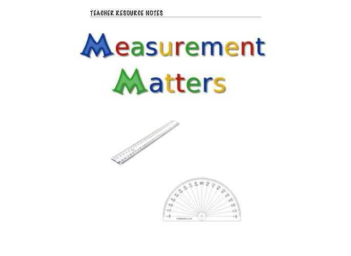 Measurement Matters - Teacher Resources