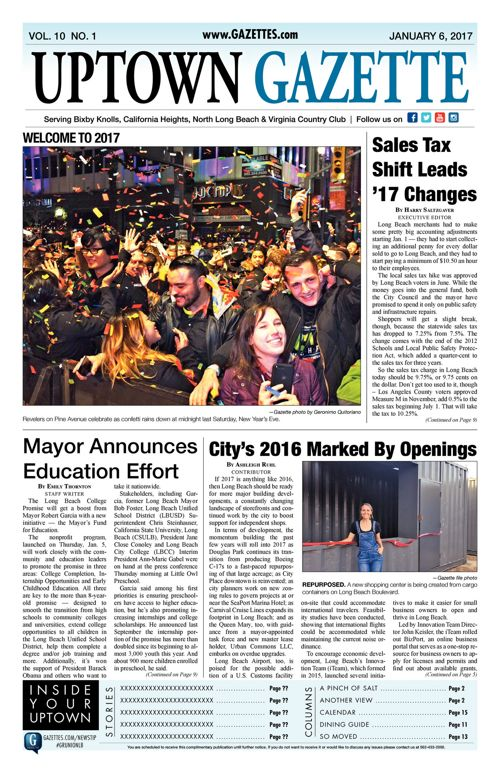 Uptown Gazette  |  January 6, 2017