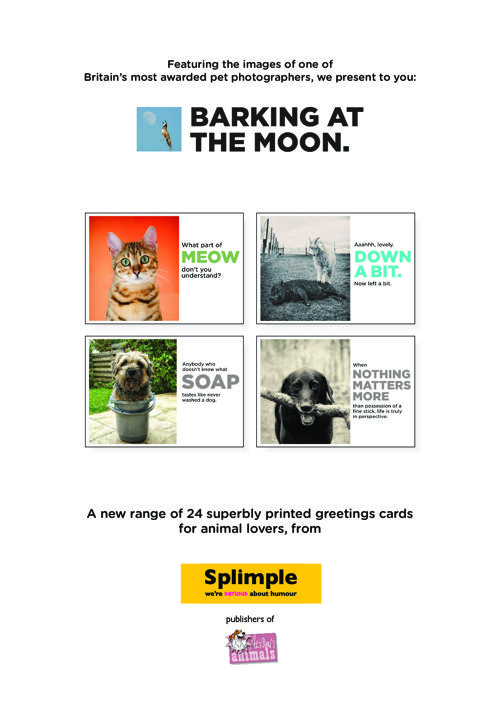 Barking at the Moon photographic greetings cards
