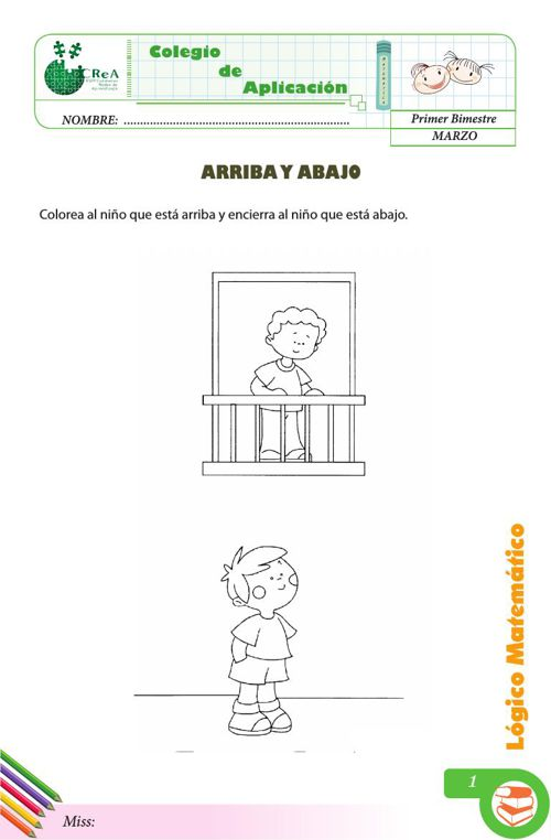 FICHAS DE APLICACION matematica 5 (RELACIONES ESPACIALES)
