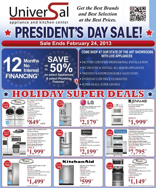 Presidents' Day Sale!