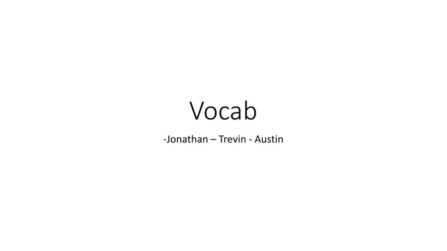 Ch1 Vocab