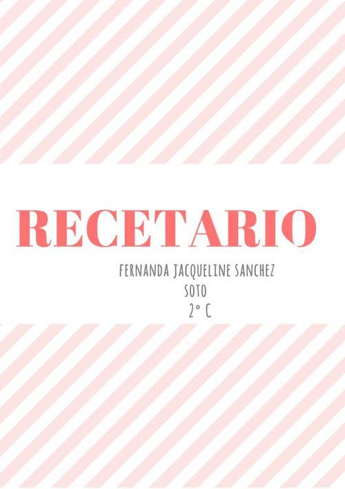 RECETARIO 2° C
