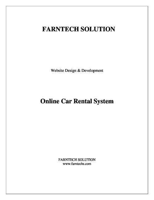 CAR--RENTAL-SYSTEM-PROJECT-REPORT  by shazia.n